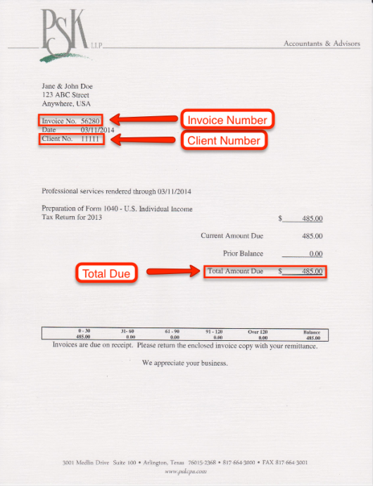 Updated Invoice PSK